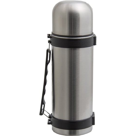 REGENT 1 LITRE STAINLESS STEEL VACUUM FLASK WITH STRAP